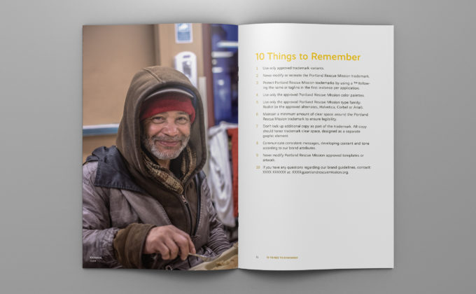 Portland-Rescue-Mission Brand Guidelines; 10 Things