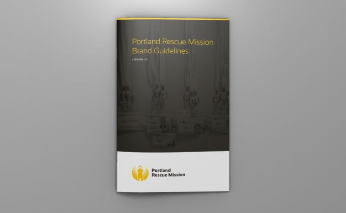 Portland-Rescue-Mission Brand Guidelines; Cover