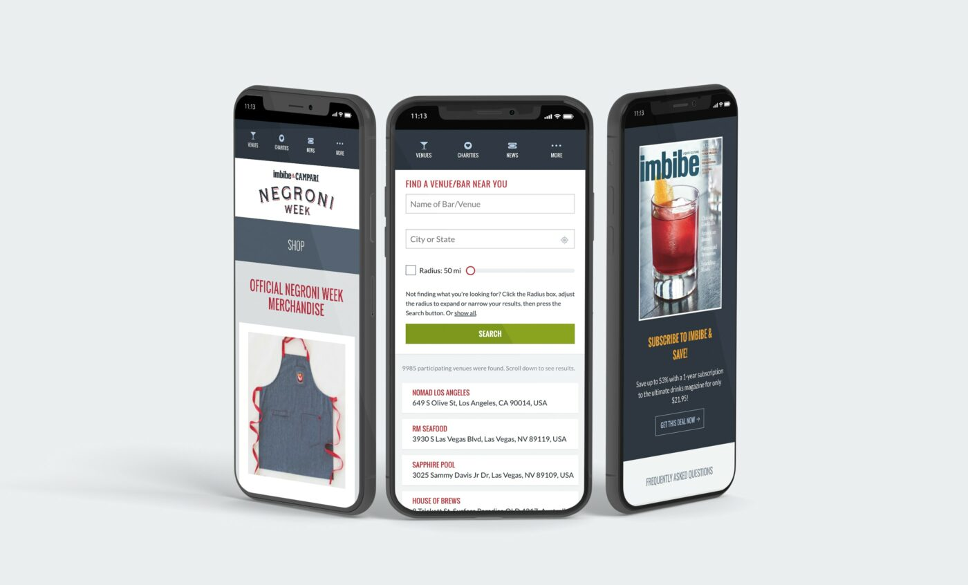 Negroni Week Website Mobile