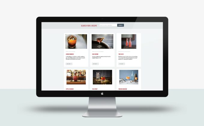 Negroni Week Website Recipes Layout