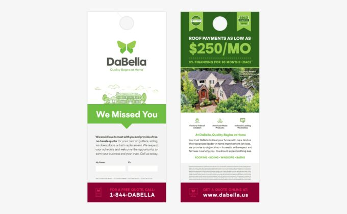 DaBella Door Hanger