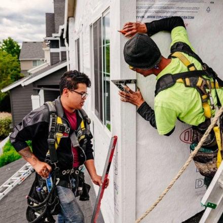 DaBella Environmental Portraits; Contractor Measuring