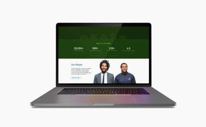 DaBella Website on Macbook, Our People