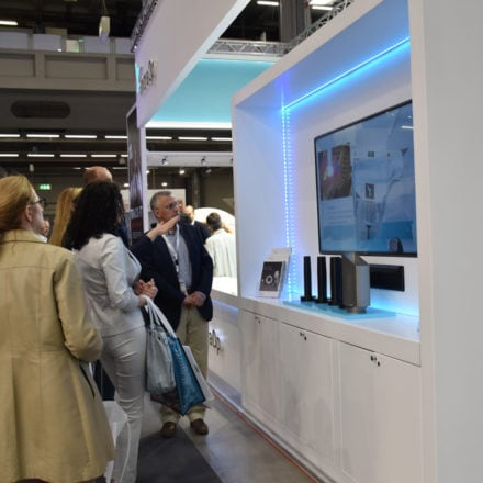 IntraOp Tradeshow Design, Audio Visual Area