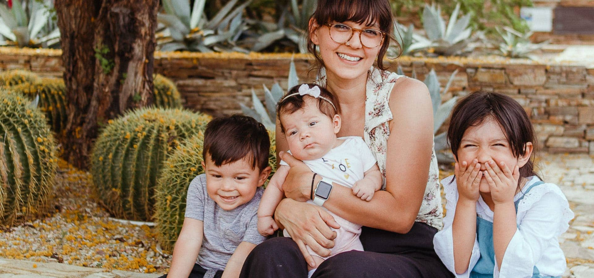 Nonprofit Brand Strategy for Desert Botanical Garden; Chicana mom and three children