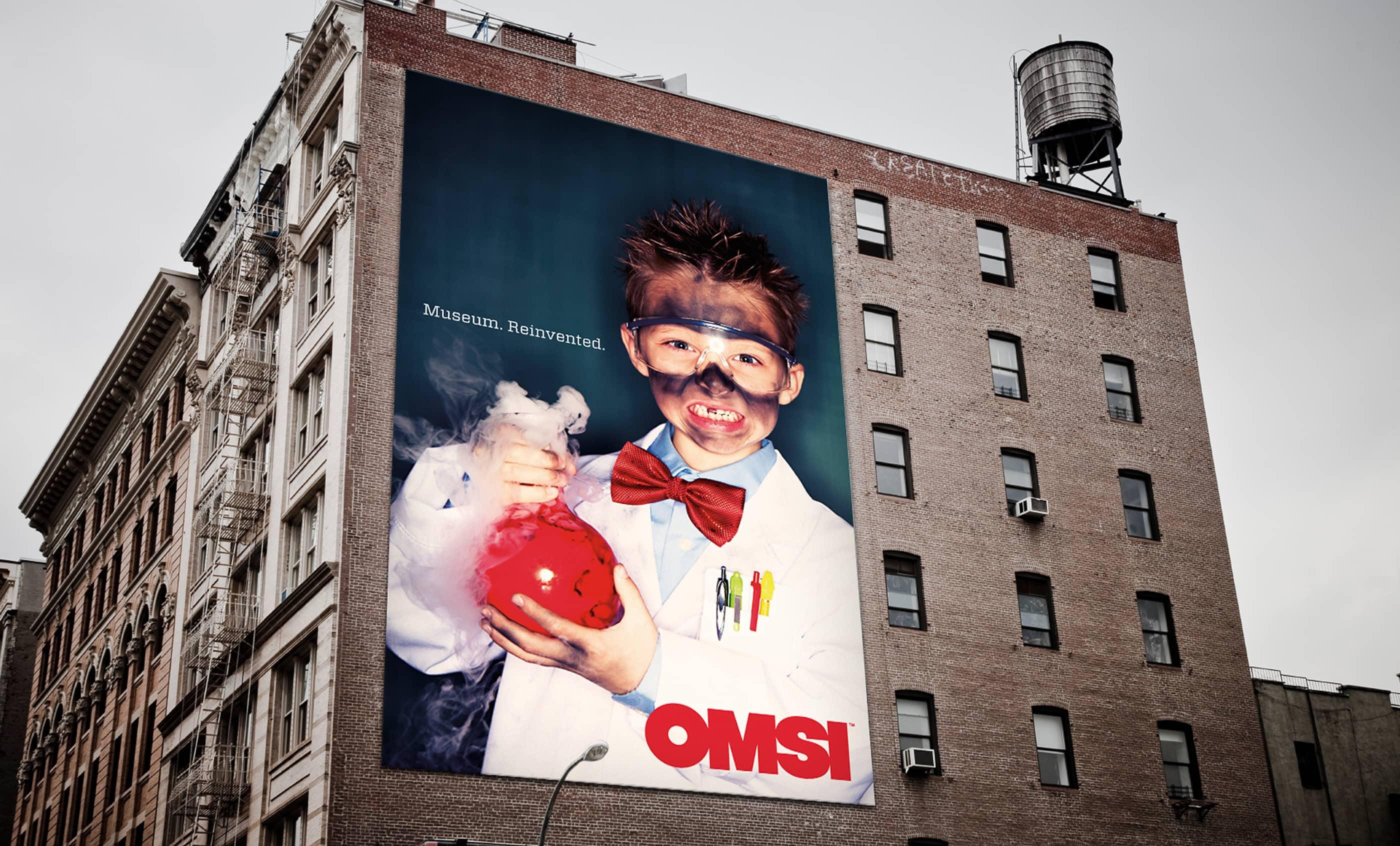 OMSI Rebranding Campaign Billboard