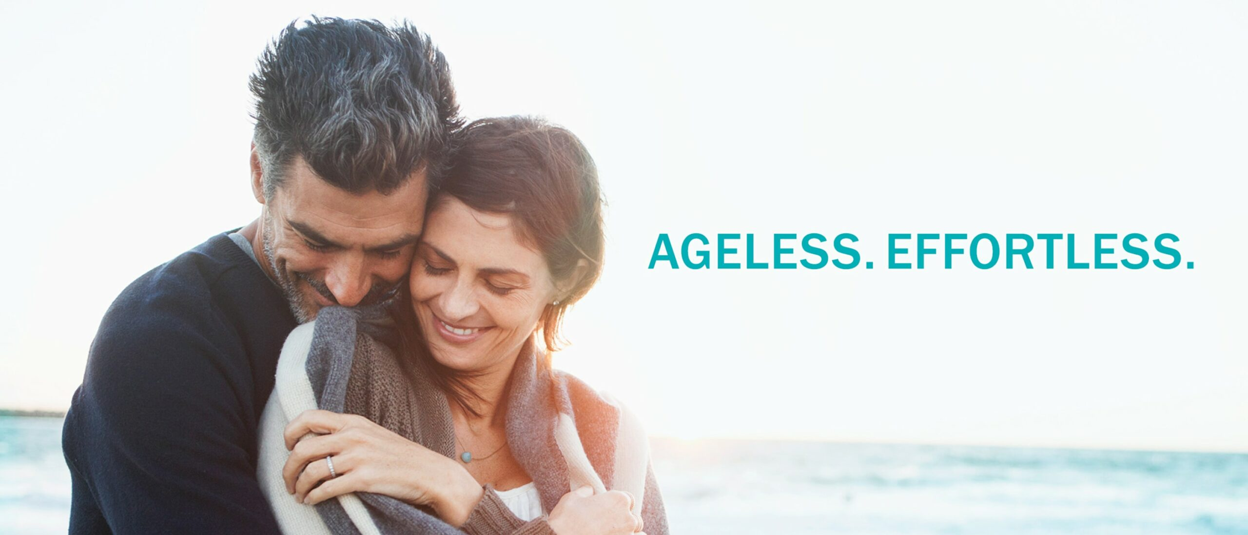 Renew Youth Photo of Man and Woman with Tagline: Ageless. Effortless.