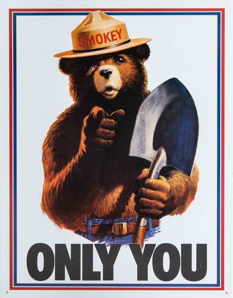 "Smokey Bear Poster; ""ONLY YOU"""