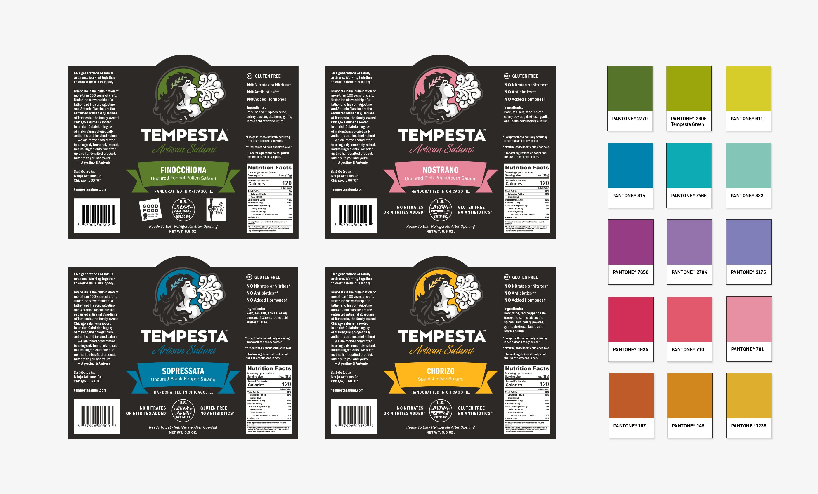 Tempesta Packaging and Color System