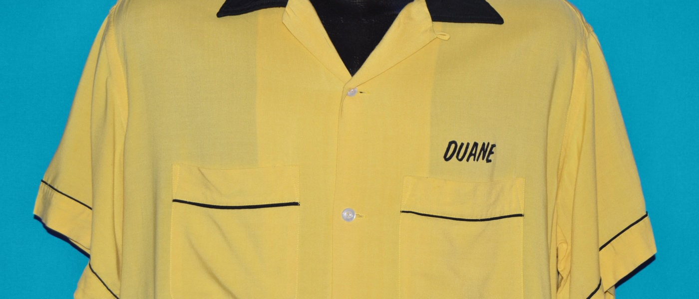 """Vintage bowling shirt with embroidered name """"Duane"""""""