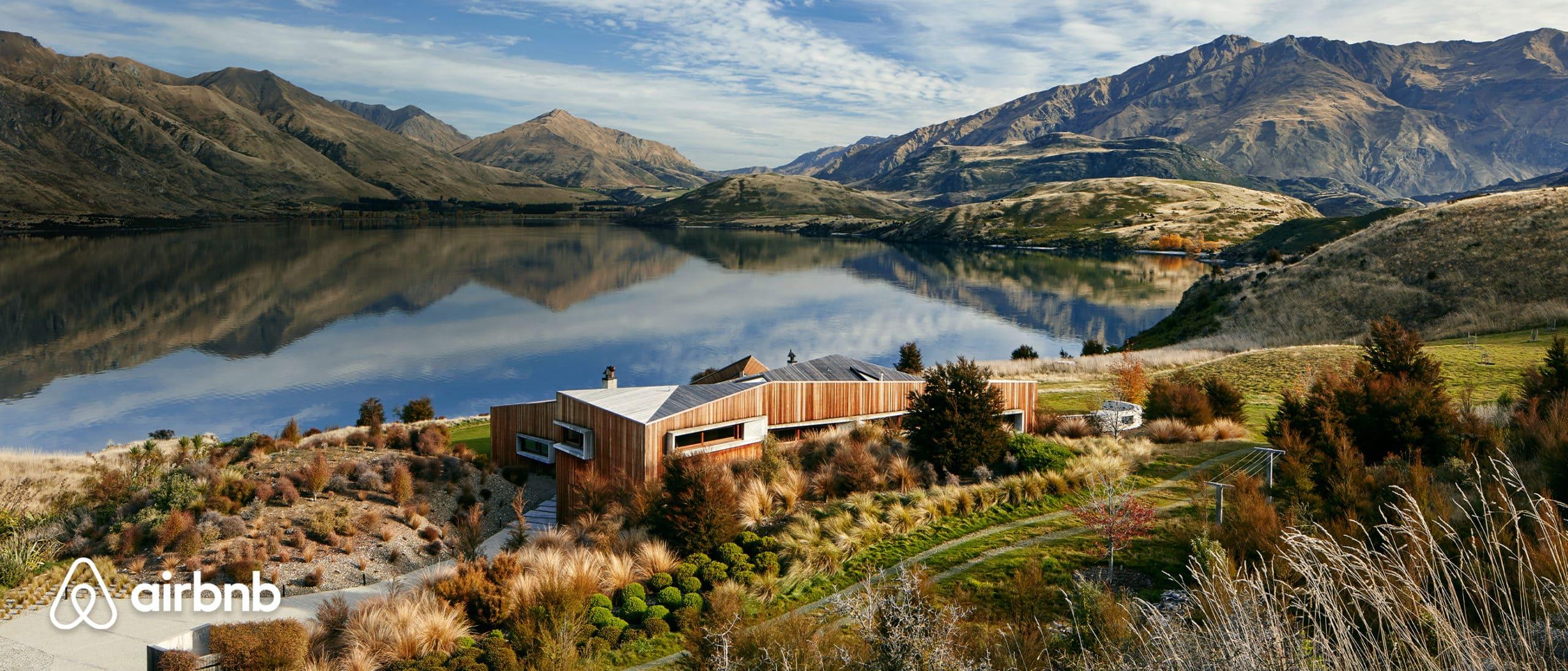 AirBnB overlooking lake in Wanaka NZ