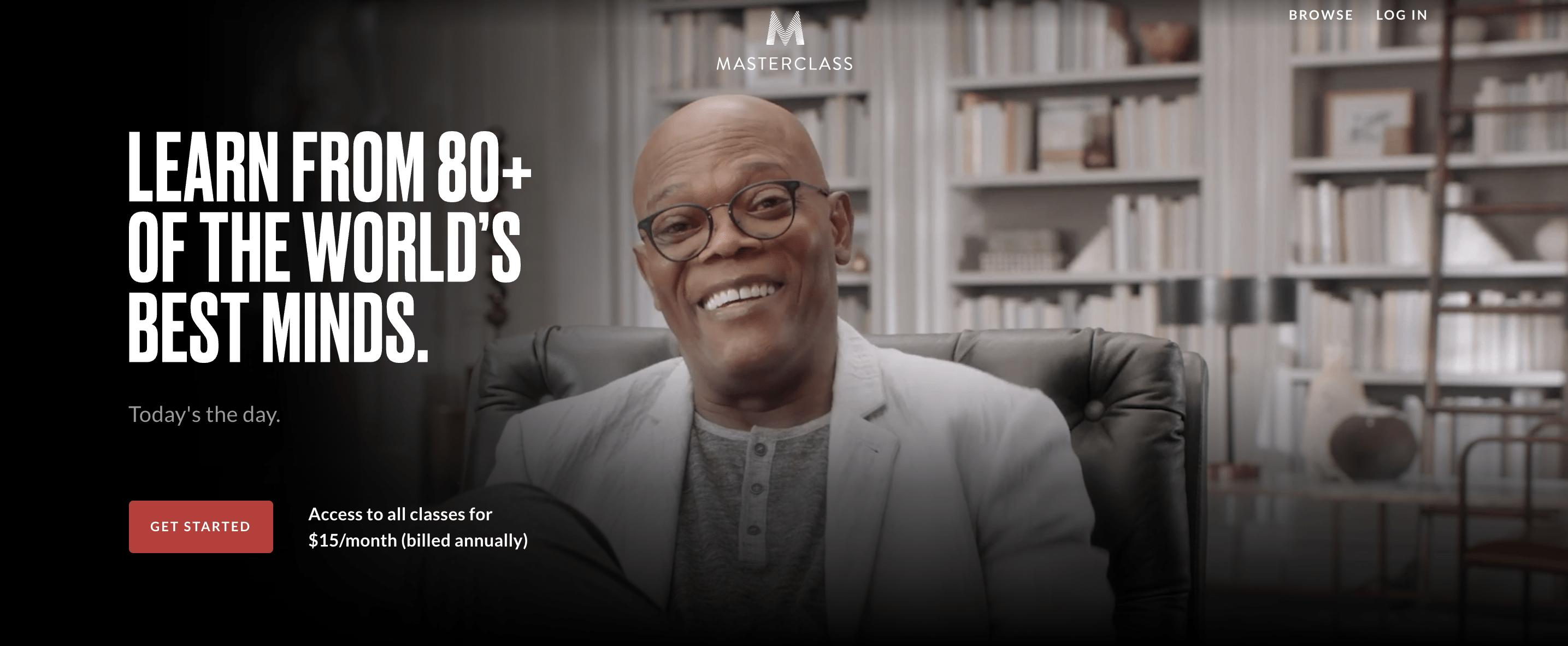 Masterclass ad with Samuel L. Jackson