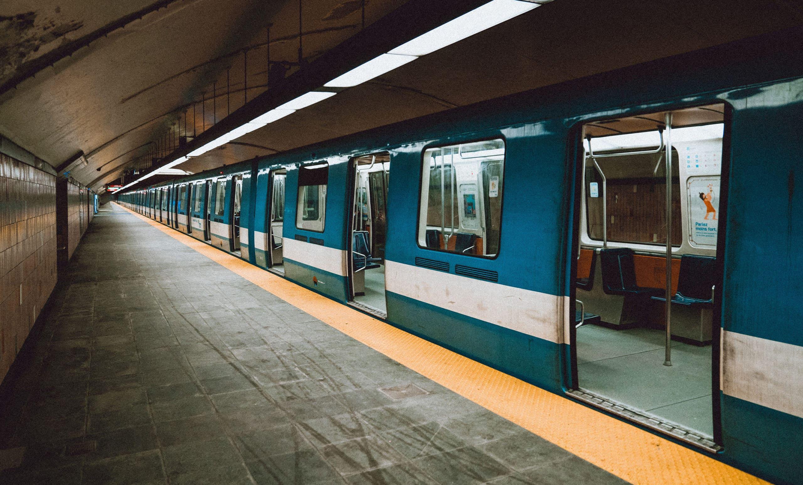 Empty subway amidst social distancing orders in response to COVID-19 novel Corona virus pandemic