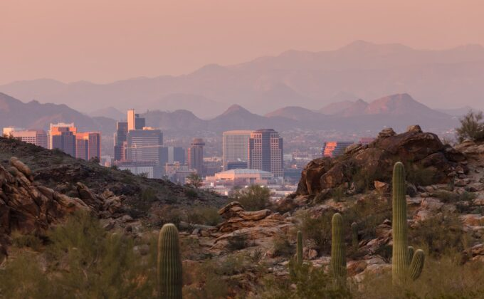 Image of Phoenix Desert and City Skyline