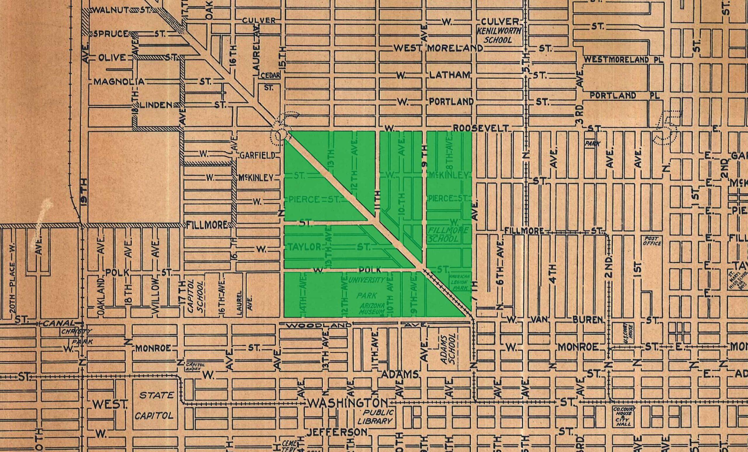 Phoenix Map Overlay—Inspiration for the Trellis Symbol