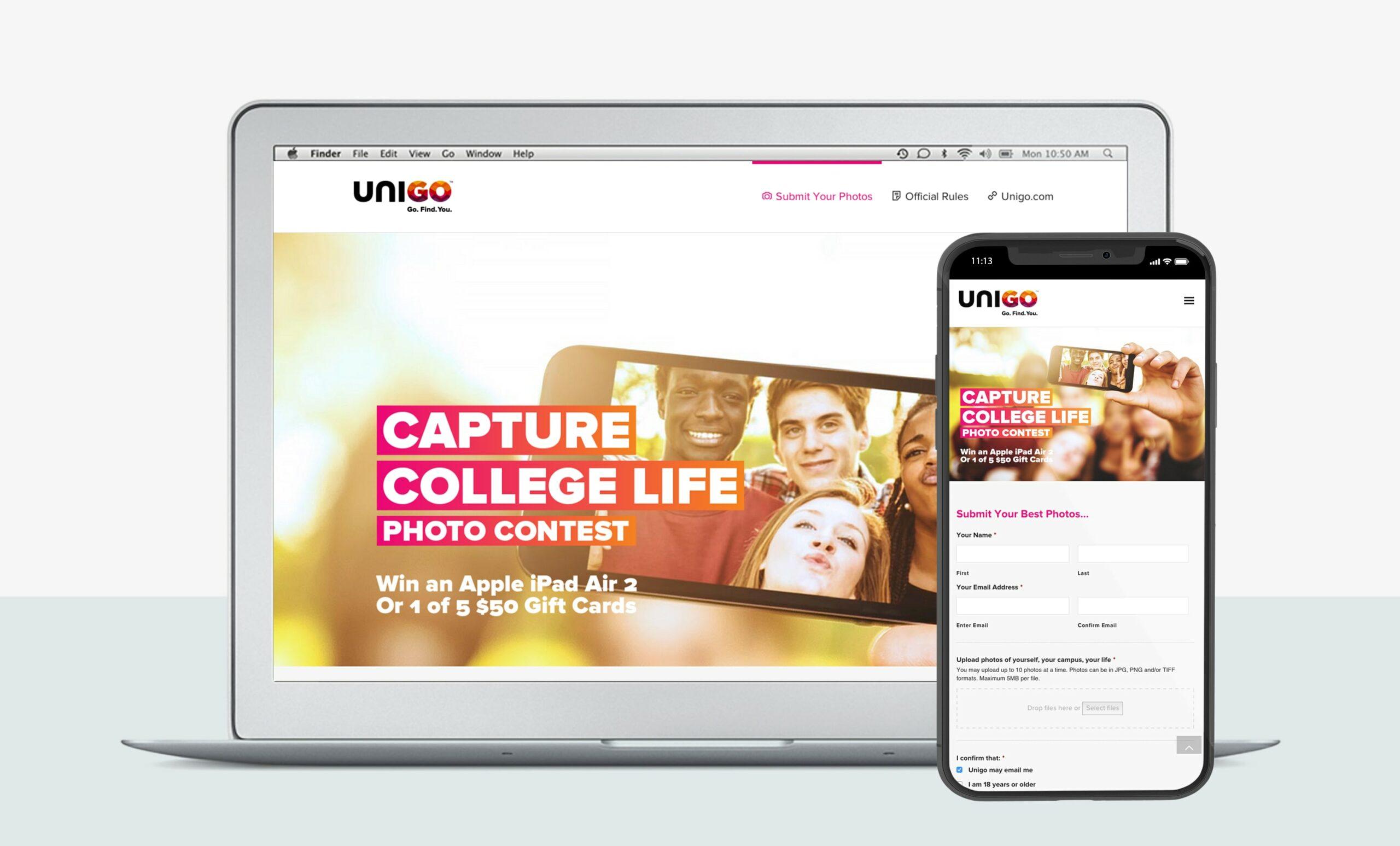 Unigo Campaign Microsite