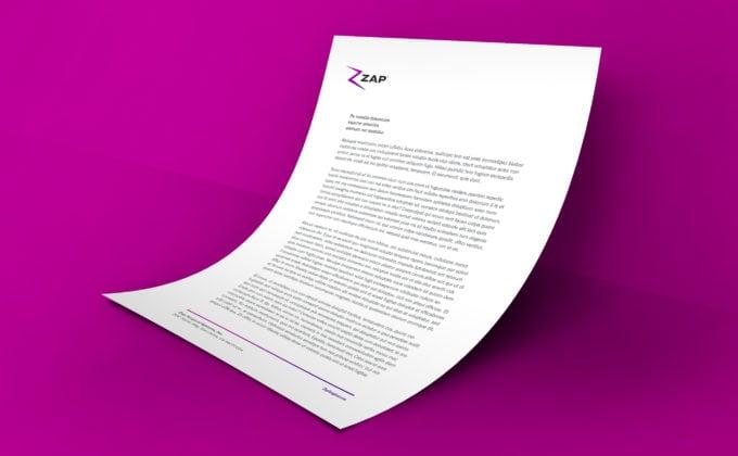 ZAP Corporate Letterhead